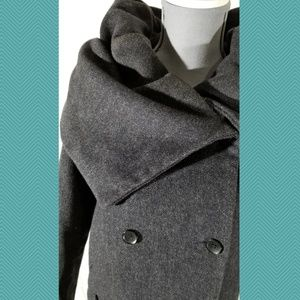 Zara Jackets & Coats - Zara Purple Dramatic Cowl Neck Coat